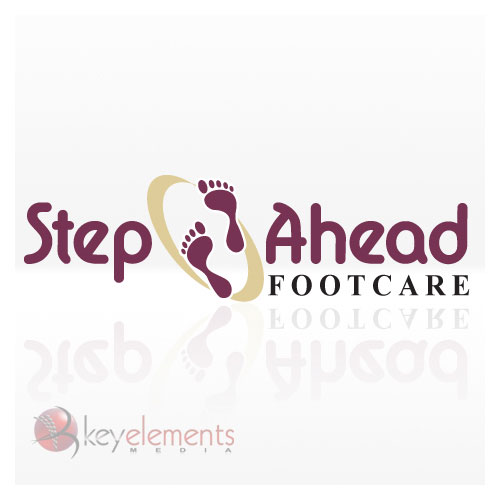 Key elements media signs graphics for A step ahead salon